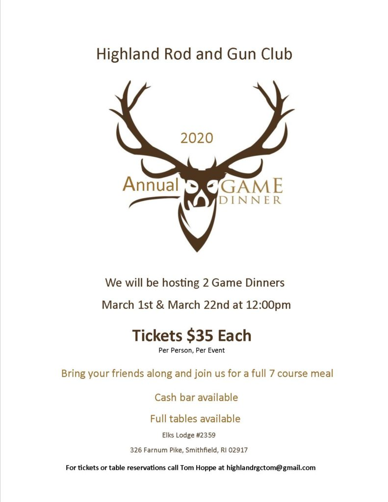 Game dinner flyer 2020 email